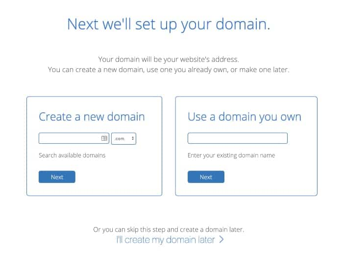 domain name bluehost