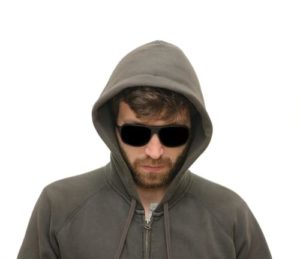 blogging mistakes shady guy in hoodie