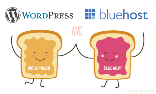 WordPress and Bluehost for blogging platform and hosting