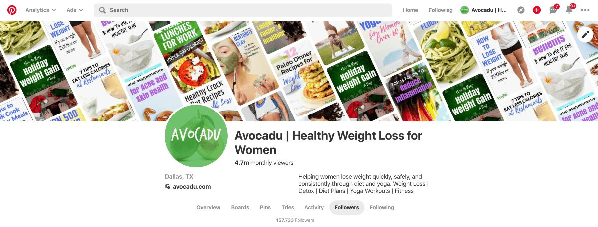 avocadu pinterest for blog traffic