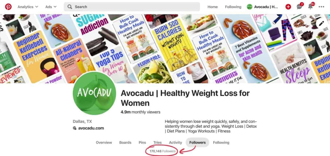 avocadu pinterest profile