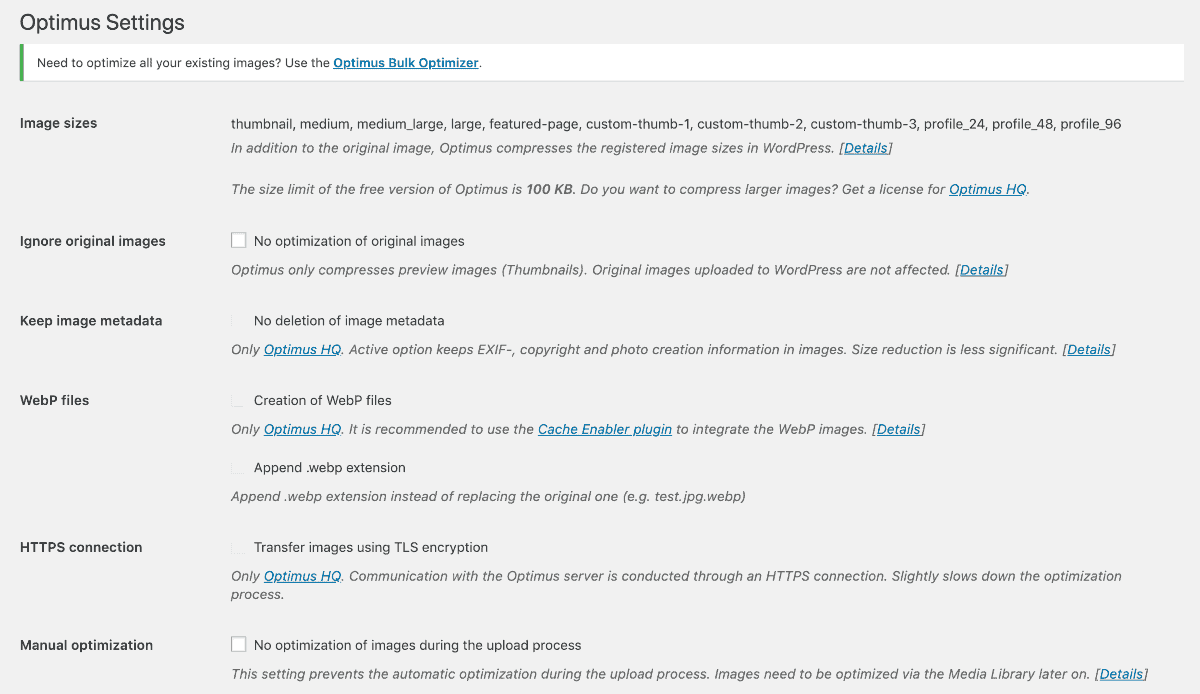 optimus wordpress plugin for blogs