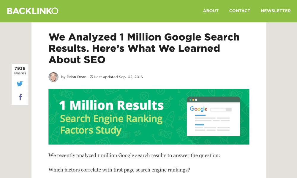 google seo search study
