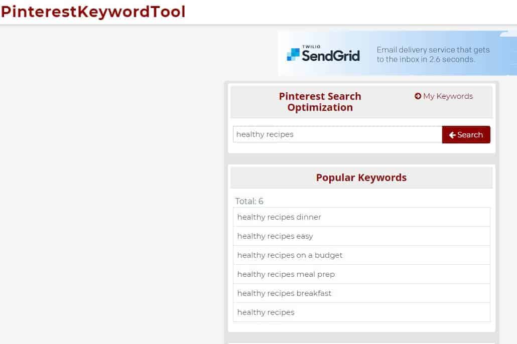 Pinterest keyword tool