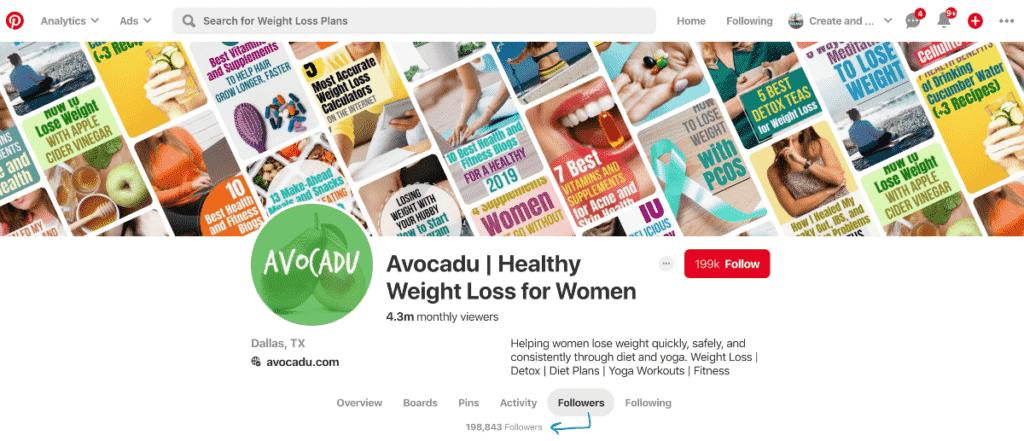 Avocadu Pinterest followers