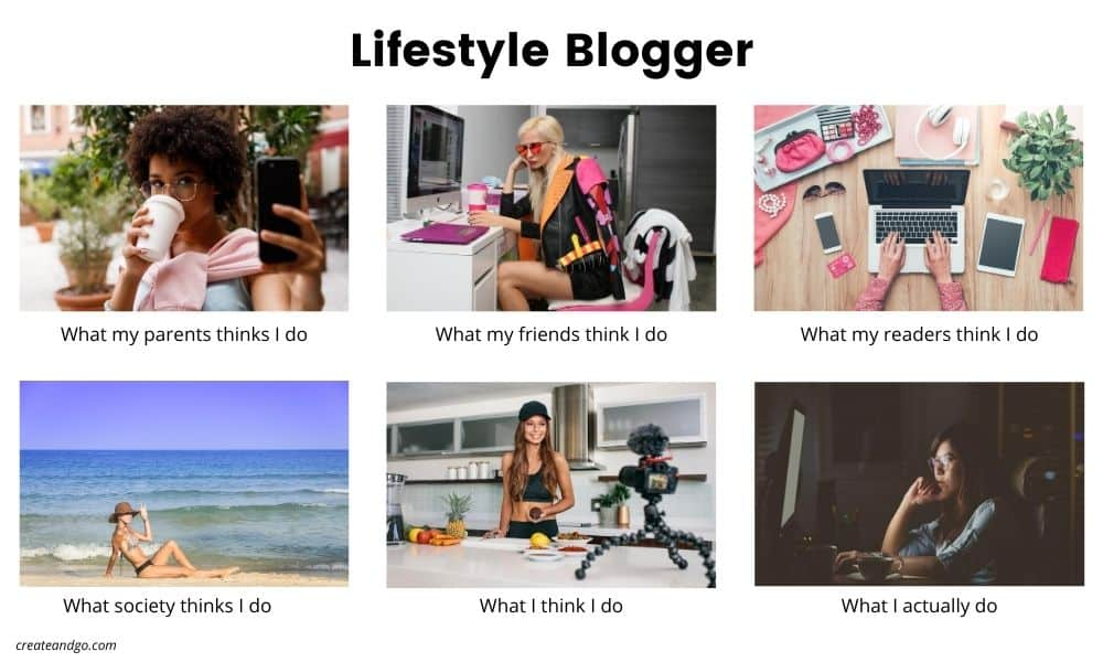 lifestyle blogger meme