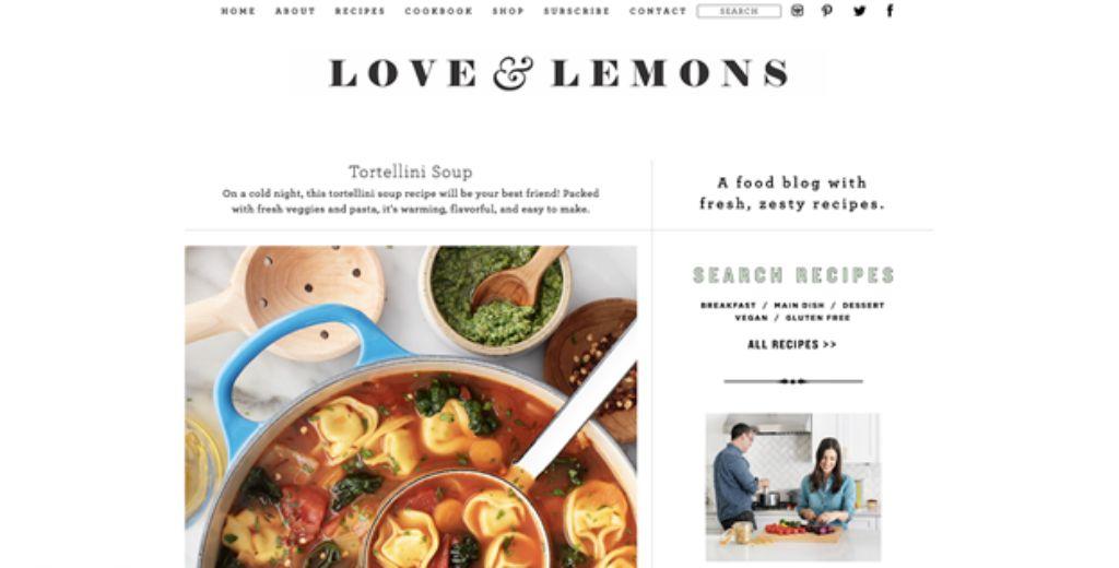 love and lemons website screenshot