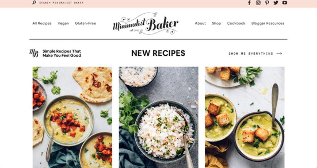 minimalist baker website screenshot