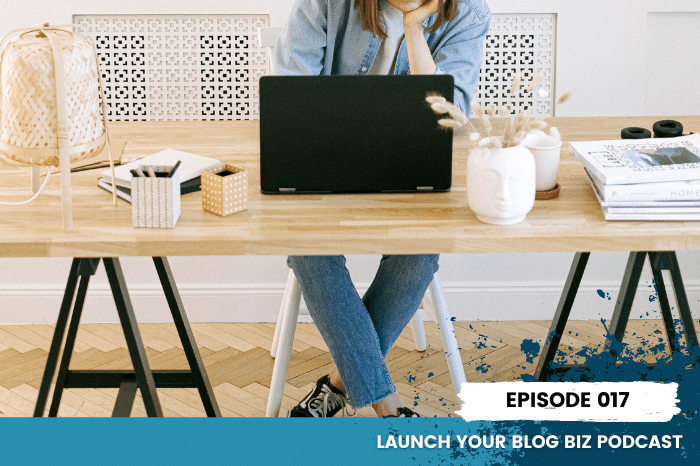 Ep. 17 Feat. Image - Woman blogging on laptop at desk, theory vs practice